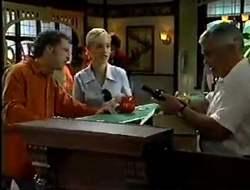 Ben Atkins, Lisa Elliot, Lou Carpenter in Neighbours Episode 2854