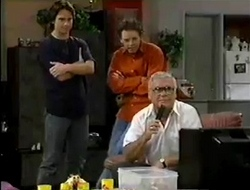 Darren Stark, Ben Atkins, Lou Carpenter in Neighbours Episode 2854