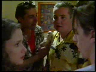 Caitlin Atkins, Tony Simpson, Toadie Rebecchi, Nick Atkins in Neighbours Episode 3042