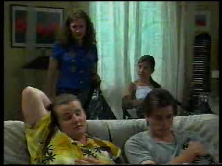 Caitlin Atkins, Anne Wilkinson, Toadie Rebecchi, Nick Atkins in Neighbours Episode 3042