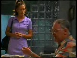 Sarah Beaumont, Harold Bishop in Neighbours Episode 3047