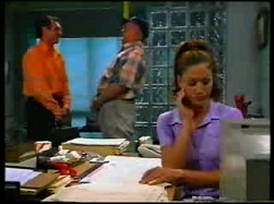 Karl Kennedy, Harold Bishop, Sarah Beaumont in Neighbours Episode 3047