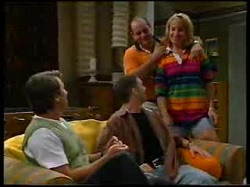 Geoff Burke, Ben Atkins, Philip Martin, Ruth Wilkinson in Neighbours Episode 3048