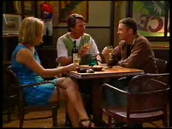 Ruth Wilkinson, Geoff Burke, Ben Atkins in Neighbours Episode 3048