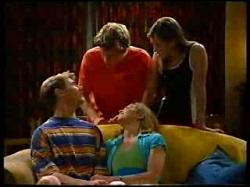 Billy Kennedy, Anne Wilkinson, Lance Wilkinson, Amy Greenwood in Neighbours Episode 3050