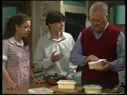Hannah Martin, Paul McClain, Harold Bishop in Neighbours Episode 3051