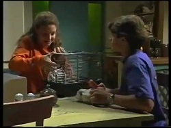 Hannah Martin, Axel, Paul McClain in Neighbours Episode 3051