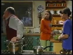 Harold Bishop, Hannah Martin, Paul McClain in Neighbours Episode 3051