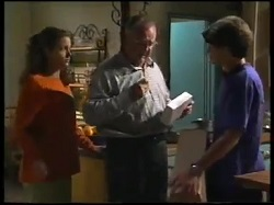 Hannah Martin, Harold Bishop, Paul McClain in Neighbours Episode 3051