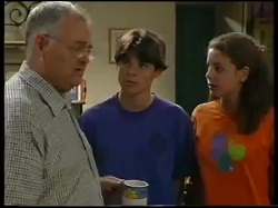 Harold Bishop, Paul McClain, Hannah Martin in Neighbours Episode 3051