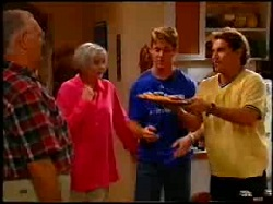 Harold Bishop, Madge Bishop, Lance Wilkinson, Joel Samuels in Neighbours Episode 3734