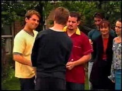 Joel Samuels, Lance Wilkinson, Toadie Rebecchi, Drew Kirk, Susan Kennedy, Libby Kennedy in Neighbours Episode 3734