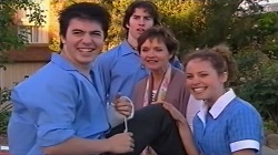 Stingray Timmins, Dylan Timmins, Susan Kennedy, Serena Bishop in Neighbours Episode 4682