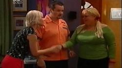 "Sindi Watts, Toadie Rebecchi, Genevieve ""Eva"" Doyle in Neighbours Episode 4683"