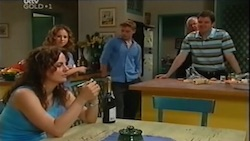 Liljana Bishop, Serena Bishop, Boyd Hoyland, Harold Bishop, David Bishop in Neighbours Episode 4686