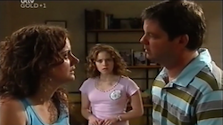 Liljana Bishop, Serena Bishop, David Bishop in Neighbours Episode 4687