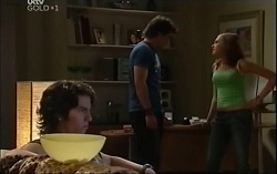 Dylan Timmins, Mike Pill, Janae Timmins in Neighbours Episode 4713
