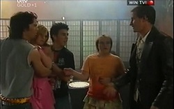 Dylan Timmins, Janae Timmins, Stingray Timmins, Bree Timmins, Chris Cousens in Neighbours Episode 4714