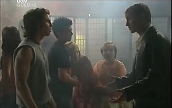 Dylan Timmins, Stingray Timmins, Janae Timmins, Bree Timmins, Chris Cousens in Neighbours Episode 4714
