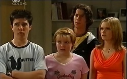 Stingray Timmins, Bree Timmins, Dylan Timmins, Janae Timmins in Neighbours Episode 4714