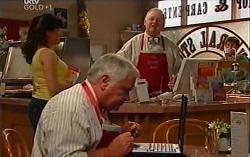 Lou Carpenter, Harold Bishop in Neighbours Episode 4723