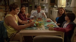 Kyle Canning, Amy Williams, Paul Robinson, Terese Willis, Jimmy Williams in Neighbours Episode 7272