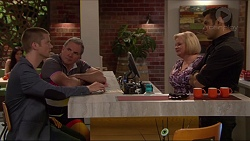 Daniel Robinson, Karl Kennedy, Sheila Canning, Nate Kinski in Neighbours Episode 7276