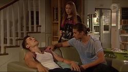 Josh Willis, Piper Willis, Tyler Brennan in Neighbours Episode 7276