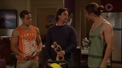 Aaron Brennan, Brad Willis, Tyler Brennan in Neighbours Episode 7277