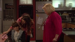Jimmy Williams, Amy Williams, Sheila Canning in Neighbours Episode 7280