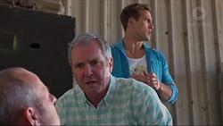 Dennis Dimato, Karl Kennedy, Aaron Brennan in Neighbours Episode 7281