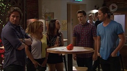 Brad Willis, Terese Willis, Imogen Willis, Josh Willis, Tyler Brennan in Neighbours Episode 7281