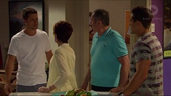 Mark Brennan, Susan Kennedy, Karl Kennedy, Aaron Brennan in Neighbours Episode 7282