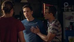 Tyler Brennan, Josh Willis, Aaron Brennan in Neighbours Episode 7283