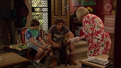 Jimmy Williams, Kyle Canning, Sheila Canning in Neighbours Episode 7284