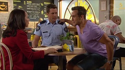 Imogen Willis, Mark Brennan, Aaron Brennan in Neighbours Episode 7285