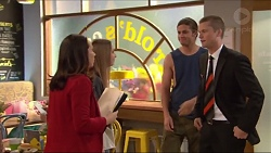 Imogen Willis, Piper Willis, Tyler Brennan, Daniel Robinson in Neighbours Episode 7285