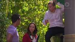 Aaron Brennan, Imogen Willis, Daniel Robinson in Neighbours Episode 7285