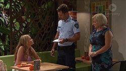 Xanthe Canning, Mark Brennan, Sheila Canning in Neighbours Episode 7285
