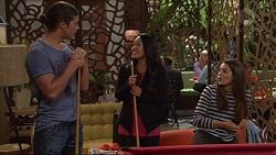 Tyler Brennan, Michelle Kim, Paige Novak in Neighbours Episode 7287