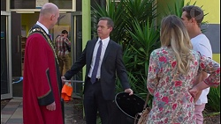 Tim Collins, Paul Robinson, Sonya Rebecchi, Aaron Brennan in Neighbours Episode 7290