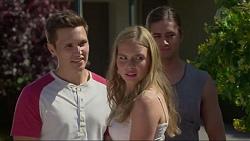 Josh Willis, Xanthe Canning, Tyler Brennan in Neighbours Episode 7291