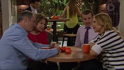 Karl Kennedy, Lyn Scully, Toadie Rebecchi, Steph Scully in Neighbours Episode 7293