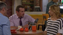 Karl Kennedy, Toadie Rebecchi, Steph Scully in Neighbours Episode 7293