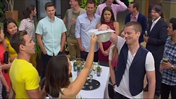 Josh Willis, Mark Brennan, Paige Novak, Aaron Brennan, Imogen Willis, Daniel Robinson in Neighbours Episode 7294