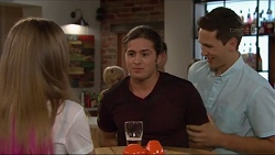 Piper Willis, Tyler Brennan, Josh Willis in Neighbours Episode 7294