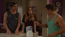 Tyler Brennan, Courtney Grixti, Aaron Brennan in Neighbours Episode 7295