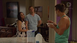 Imogen Willis, Daniel Robinson, Aaron Brennan in Neighbours Episode 7295
