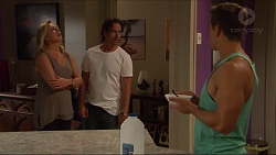Lauren Turner, Brad Willis, Aaron Brennan in Neighbours Episode 7295