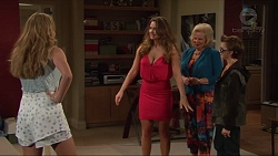 Xanthe Canning, Amy Williams, Sheila Canning, Jimmy Williams in Neighbours Episode 7296